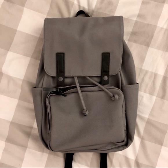 ecf7e5b0fc Everlane Handbags - Everlane Modern Snap Backpack Grey